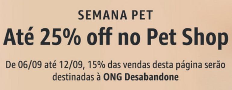 Semana Pet na Amazon - Até 25% de Desconto!