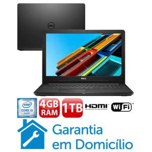 """Notebook Dell Core i3-6006U 4GB 1TB Tela 15.6"""" Linux Inspiron I15-3567-D10P"""