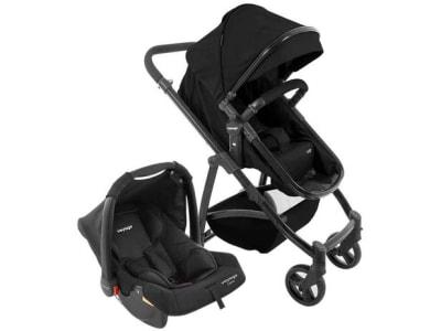Carrinho de Bebê com Bebê Conforto e Moisés Voyage - Travel System VIP 0 a 15kg - Magazine Ofertaesperta
