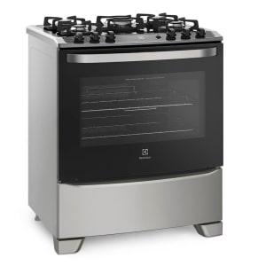 Oferta ➤ Fogão de Piso com Mesa de Vidro Temperado Silver Electrolux (76GSS)   . Veja essa promoção