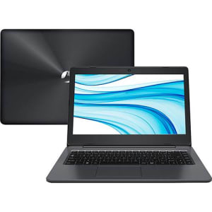 """Notebook Positivo Stilo XCI8660 Intel Core i5 4GB 1TB Tela LCD 14"""" Linux - Cinza Escuro"""