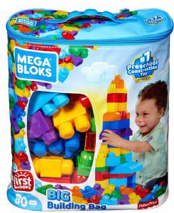 Sacola de 80 Blocos Mega Bloks Mattel