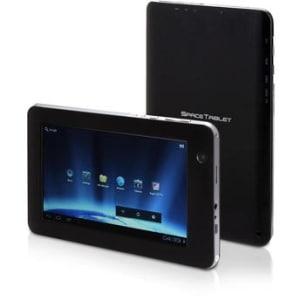 "Tablet Space Tech Tela 7"" Android 4.0 8GB Wi-Fi Preto Processador Allwinner A13 1.2GHz"