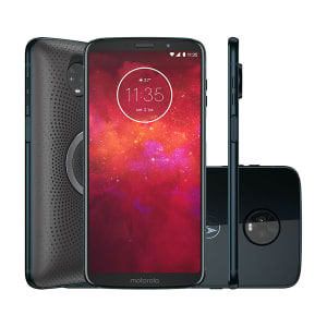 "Smartphone Moto Z3 Play Stereo Speaker Edition 64GB Indigo Tela 6"" Câmera 12MP Android 8.1"