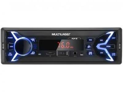 Som Automotivo Multilaser Pop BT Bluetooth - MP3 Player Rádio FM USB Micro SD Auxiliar
