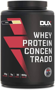 Whey Protein Concentrado Pote (900G) - Sabor Coco, Dux Nutrition