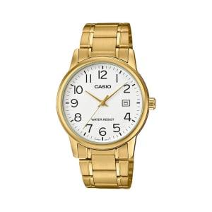 Relógio de Pulso Casio Collection Masculino Dourado Analógico MTP-V002G-7B2UDF
