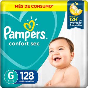 Fralda Pampers Confort Sec G 128 Unidades