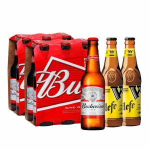 2 Packs Budweiser Long Neck (343ml) Ganhe 2 Widmer Brothers Hefe 355ml