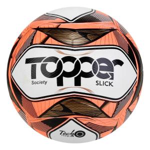 Bola de Futebol Society Topper Slick II Tecnofusion - Vermelho e Preto