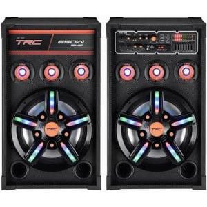 Oferta ➤ Caixa de Som Amplificada TRC 389 Bluetooth, USB, Entrada para Microfone, Rádio FM e Iluminação 650W   . Veja essa promoção