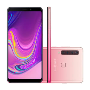 "Smartphone Samsung Galaxy A9 128GB Rosa 4G Tela 6.3"" Câmera 24MP Selfie 24MP Dual Chip Android 8.0"