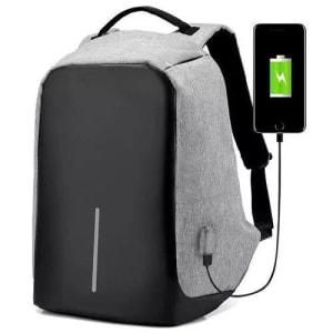 Mochila Anti-furto Com Compartimento P/laptop Saida USB Para Carregamento De Dispositivos