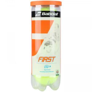 Kit de Bolas de Tênis Babolat First com 3 Unidades