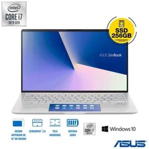"Notebook Asus ZenBook 14, Intel® Core™ i7-10510U, 8GB, 256GB SSD, 14"", Segunda Tela ScreenPad 2.0 - UX434FAC-A6339T"