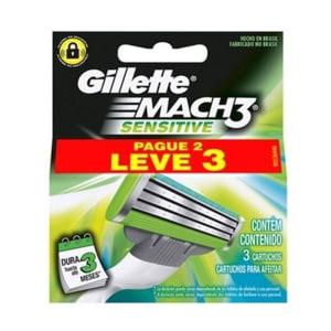 [Primeira Compra] 6 Cargas Gillette Mach 3 Sensitive
