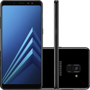 "Smartphone Samsung Galaxy A8 Plus Dual Chip Android 7.1 Tela 6"" Octa-Core 2.2GHz 64GB 4G Câmera 16MP - Preto"