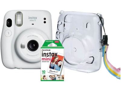 Instax Mini 11 Fujifilm Branco Flash Automático - com Acessórios - Magazine Ofertaesperta