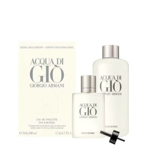 Conjunto Acqua Di Giò Pour Homme Giorgio Armani Masculino EDT - 50ml e 200ml