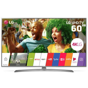 "Smart TV LED 60"" Ultra HD 4K LG 60UJ6585 com Sistema WebOS 3.5, Wi-Fi, Painel IPS, HDR, Local Dimming, Magic Mobile Connection, HDMI e USB"