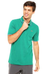 Camisa Polo Lacoste Slim Verde c3546f412a