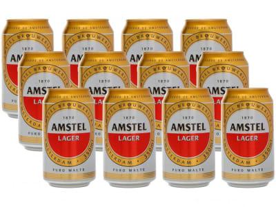 Cerveja Amstel Pilsen 350ml - 12 Unidades