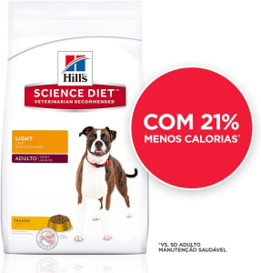 Ração Hill's Science Diet para Cães Adultos - Light - 7,5kg