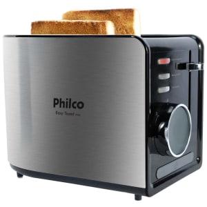 Torradeira Philco Easy Toast Ptr2 – Aço Escovado/Preto