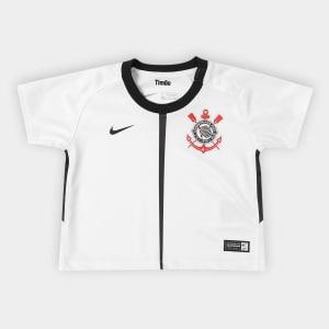 Camisa Corinthians Infantil I 17 18 s nº Baby Torcedor Nike - Branco e Preto 275d7d6952ab2
