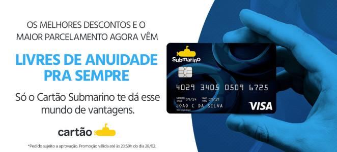 Cartão Submarino com Anuidade Grátis para Sempre!