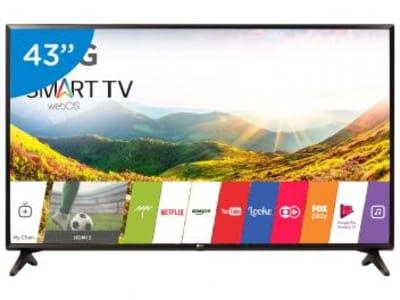 "Smart TV LED 43"" LG 43LJ5550 webOS - Conversor Digital 1 USB 2 HDMI - Magazine Ofertaesperta"
