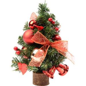 Árvore de Mesa Decorada com Bolas e Enfeites 38cm - Orb Christmas