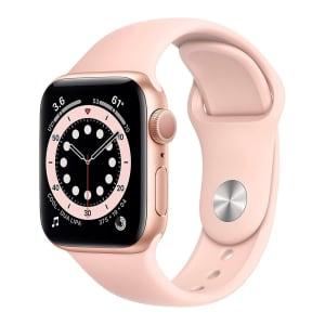 Apple Watch S6 40MM GPS com Case de Alumínio Gold e Sport Band Pink - MG123LL/A