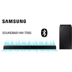 Soundbar Samsung 2.1 Canais Bluetooth e Subwoofer 320W - HW-T550.