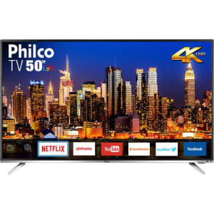 "Smart TV Philco 50"" Led PTV50F60SN 4K com Conversor Digital Integrado Wi-Fi 2 HDMI 2 USB Netflix"