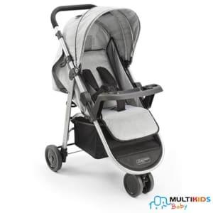 Carrinho de Bebê Agile Cinza - Multikids - BB526