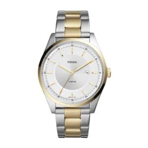 Relógio Fossil Mathis Masculino Prata e Dourado Analógico FS5426/1KN