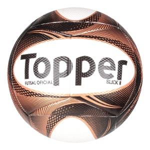 Bola Futsal Topper Slick II Exclusiva - Preto e Dourado