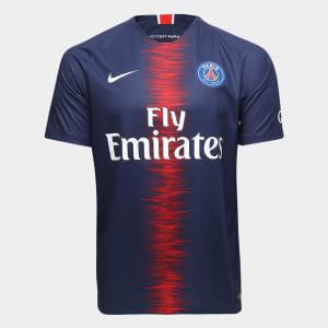 Camisa Paris Saint-Germain Home 18/19 s/n° Torcedor Nike Masculina - Marinho
