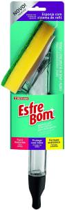 Esponja com Reservatório para Detergente, Amarelo/Verde/Transparente, EsfreBom