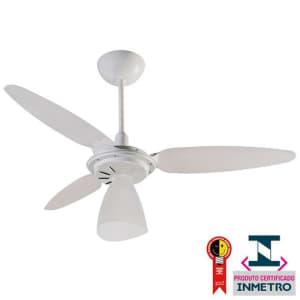 Ventilador de Teto Ventisol Wind Light com Lustre e 3 Velocidades - Branco
