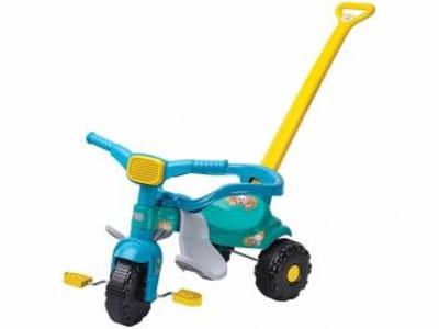 [Azul ou rosa] Triciclo Infantil Magic Toys - Haste Removível