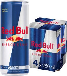 Energético Red Bull Energy Drink Pack com 4 Latas de 250ml