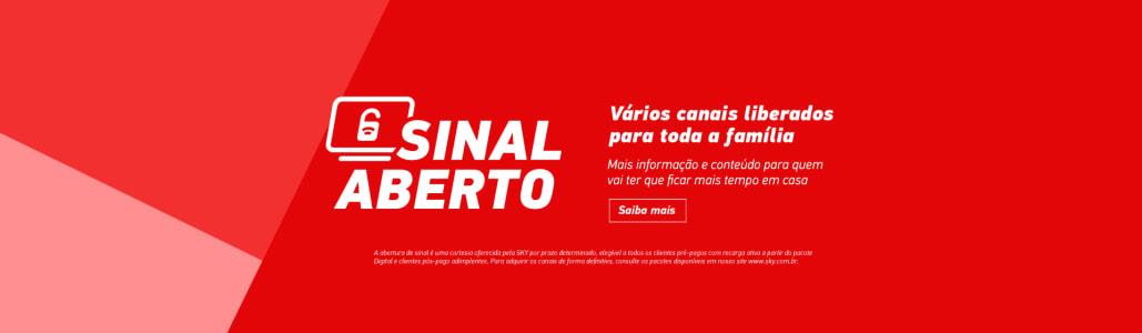 SKY TV por assinatura - 70 canais pra quem já é assinante