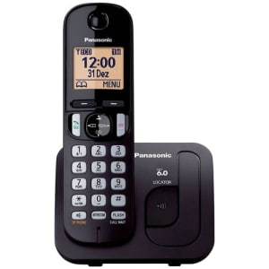 Telefone Sem Fio Panasonic com Identificador de Chamadas e Viva Voz KX-TGC210LBB