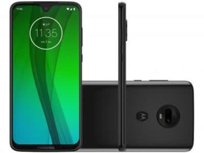 "Smartphone Motorola G7 64GB Ônix 4G - 4GB RAM Tela 6,24"" Câm. Dupla + Câm. Selfie 8MP - Magazine Ofertaesperta"