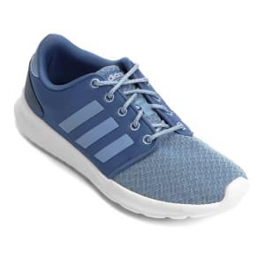 Tênis Adidas CF QT Racer Feminino - AzulTênis Adidas CF QT Racer Feminino - Azul