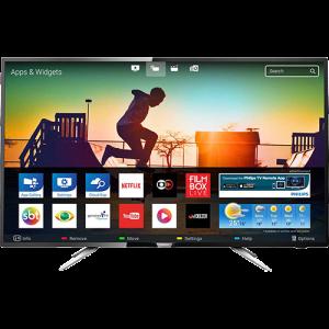 "Smart TV LED 43"" Philips 43PUG6102/78 Ultra HD 4k com Conversor Digital 4 HDMI 2 USB Wi-Fi 60hz Preta"