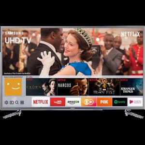 "Smart TV LED 49"" Samsung 49MU6120 Ultra HD 4k com Conversor Digital 3 HDMI 2 USB Wi-Fi HDR Premium Smart Tizen"