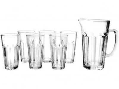Conjunto para Suco em Vidro 7 Peças Ruvolo - Glass Company Max